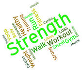 Strength Words Represents Text Strengthen And Muscle — Stock Photo