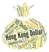 Hong Kong Dollar Indicates Currency Exchange And Currencies — Stock Photo