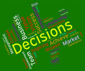 Decision Words Indicates Decided Wordcloud And Text — Stock Photo