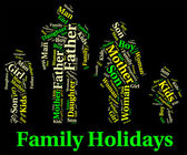 Family Holiday Represents Go On Leave And Families — Stockfoto
