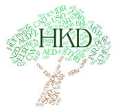 Hkd Currency Means Hong Kong Dollar And Broker — Stock Photo