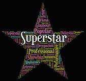 Superstar Word Means Hot Shot And Figure — Stock Photo