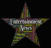 Entertainment News Represents Entertainments Word And Newspaper — Stock Photo