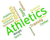 Athletics Word Represents Getting Fit And Aerobic — Stock Photo