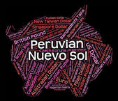 Peruvian Nuevo Sol Represents Forex Trading And Currency — Stock Photo
