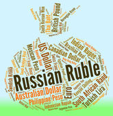 Russian Ruble Indicates Foreign Currency And Exchange — Stock Photo
