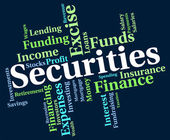 Securities Word Indicates Financial Obligation And Bond — Stock Photo