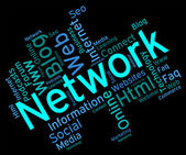 Network Word Shows Global Communications And Connection — Stock Photo