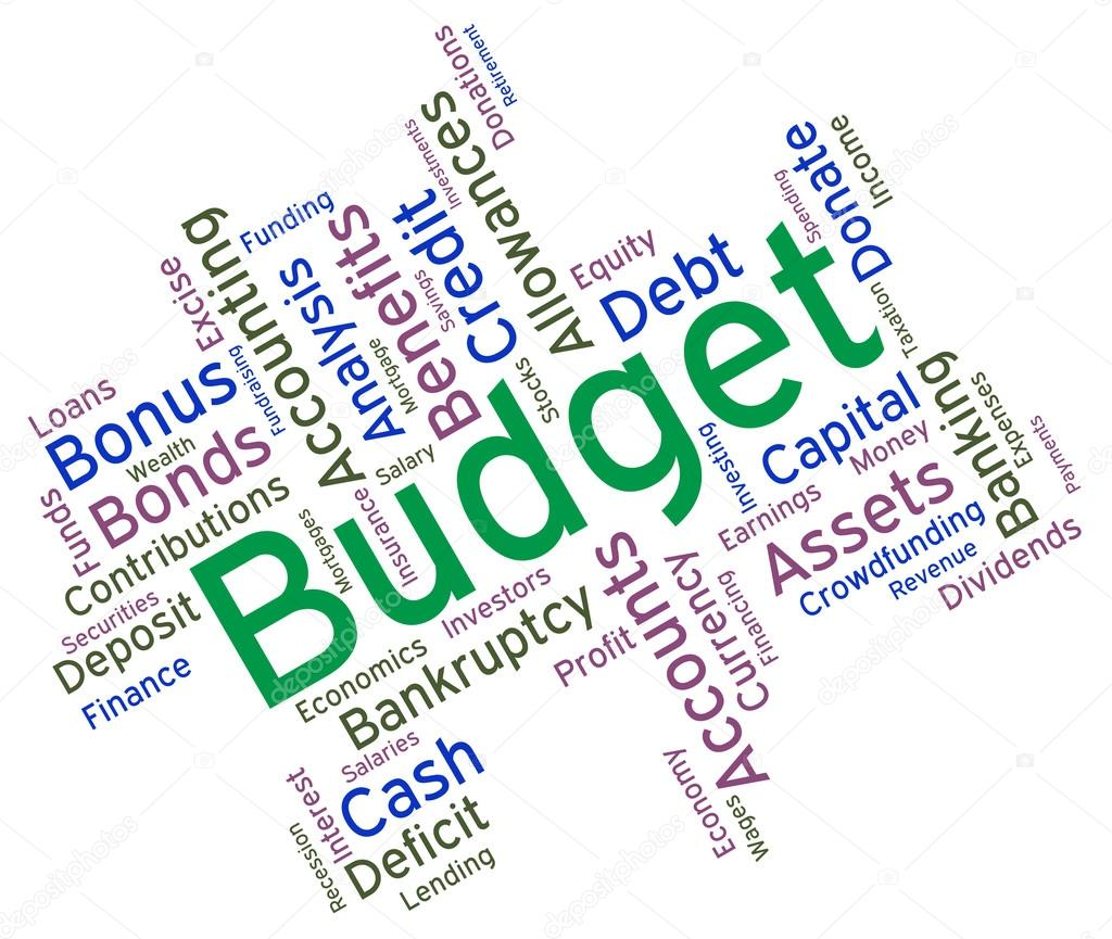 Finance Words: Budget Words Represents Budgets Accounting And Financial
