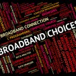 Broadband Choices Means World Wide Web And Alternative — Stock Photo #80281650
