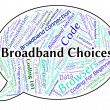 Broadband Choices Shows World Wide Web And Alternative — Stock Photo #80282032
