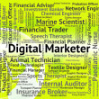 Digital Marketer Represents High Tec And Advertisers — Stock Photo #80282572