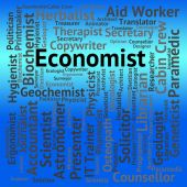 Economist Job Means Macro Economics And Career — Stock Photo