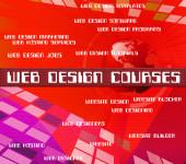 Web Design cursos Shows Www programa e projetos — Fotografia Stock