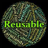 Représente mot réutilisables écolo et recycler — Photo