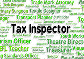 Tax Inspector Means Taxpayer Supervisor And Hire — Stock Photo