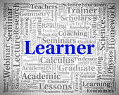 Learner Word Indicates Educating Development And Training — Stock Photo