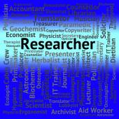 Researcher Job Shows Gathering Data And Analysis — Stock Photo