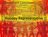 Holiday Representative Shows Go On Leave And Career — Stock Photo