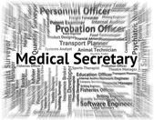 Medical Secretary Represents Personal Assistant And Pa — Stock Photo