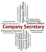 Company Secretary Shows Clerical Assistant And Administrator — Stock Photo