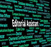 Editorial Assistant Represents Subordinate Occupations And Edits — Stock Photo