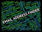 Email Address Finder Means Send Message And Addresses — Stock Photo