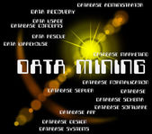 Data Mining Means Bytes Mines And Quarry — Stock Photo