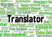 Translator Job Shows Translators Decipherer And Occupation — Stock Photo
