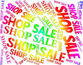 Shop Sale Means Commercial Activity And Bargain — Stock Photo