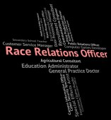 Race Relations Officer Represents Ethnical Career And Work — Stock Photo