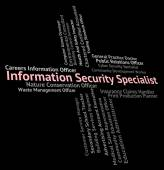 Information Security Specialist Shows Skilled Person And Special — Stock Photo