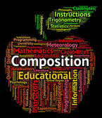 Composition Word Represents Literary Work And Creation — Stock Photo