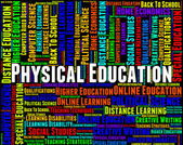 Physical Education Represents Gym Class And Athletics — Stock Photo