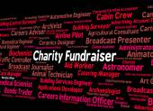 Charity Fundraiser Means Work Fundraisers And Position — Stock Photo
