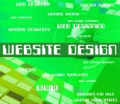 Website Design Means Designing Designers And Domains — Stock Photo