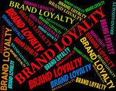 Brand Loyalty Represents Company Identity And Bond — Stock Photo
