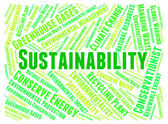 Sustainability Word Indicates Ecology Text And Reuse — Stock Photo