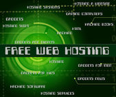 Free Web Hosting Means With Our Compliments And Complimentary — Stock Photo