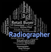 Radiographer Job Indicates Radiographists Recruitment And Work — Stock Photo