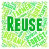 Réutilisation mot représente aller vert et Recyclable — Photo