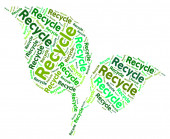 Recycle Word Shows Earth Friendly And Recycled — Stock Photo