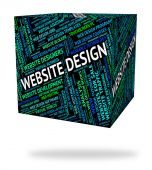 Website Design Represents Domain Domains And Designs — Stock Photo