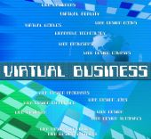 Virtual Business Represents Contract Out And Biz — Stock Photo