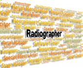 Radiographer Job Represents Words Jobs And Position — Stock Photo