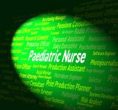 Paediatric Nurse Shows Kid Nurses And Hire — Stock Photo
