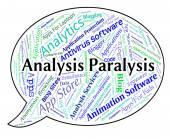 Analysis Paralysis Shows Data Analytics And Numbness — Stock Photo