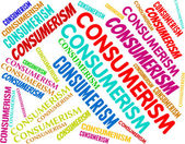 Consumerism Words Represents Commercial Activity And Commerce — Stock Photo