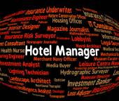 Hotel Manager Shows Place To Stay And Administrator — Stock Photo