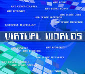 Virtual Outsource Indicates Contracting Earth And Worlds — Stock Photo